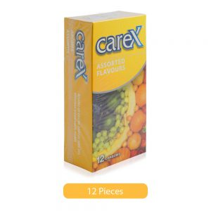 carex assorted flavours condoms 12 pieces hero