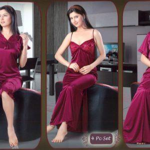 sxy 489. new port 4 piece set women s nighty gown